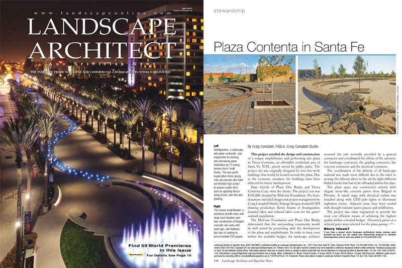 Landscape architectural specifier