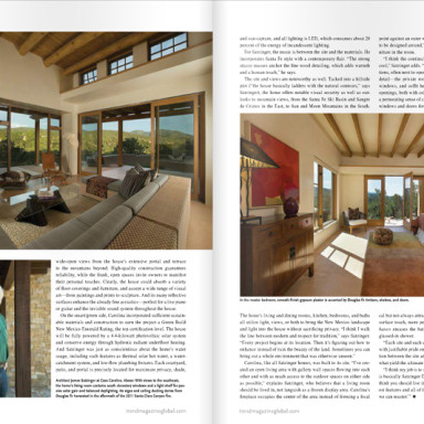 Landscape architect Solange Serquis featured in Trend Magazine