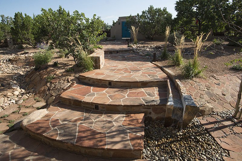 flagstone steps landscape architect serquis