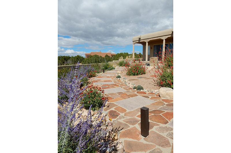 flagstone walkway new mexico landscape architect serquis