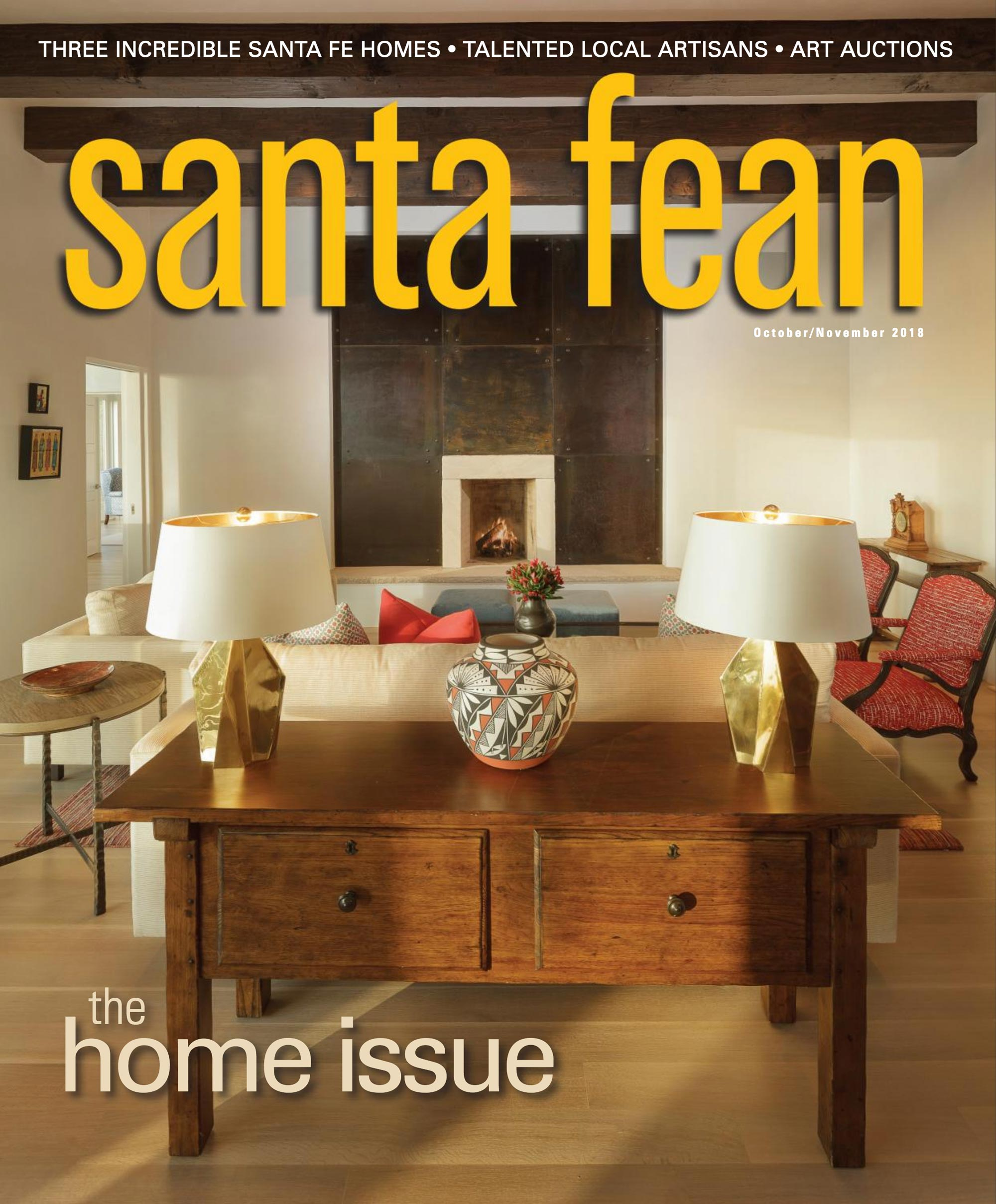 Santa Fean October/November 2018 The Home Issue Cover